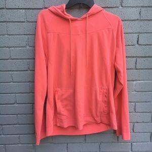 COLUMBIA pink hooded sweatshirt Xl